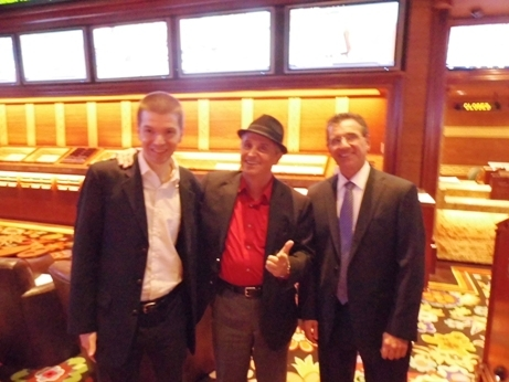 With UFC Founder Art Davie and Wynn Las Vegas Sportsbook Manager John Avello
