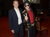With Michael Jackson Impersonator Santana Jackson at the MJ Live tribute show at Stratosphere Hotel and Casino