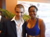 With Actress and Singer Tatyana Ali