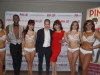 With 2011 Playboy Playmate of the Year Claire Sinclair and the cast of Pin Up at The Stratosphere Hotel and Casino in Las Vegas