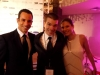 With Helio Castroneves and Adriana Henao