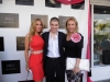 With Lisa Hochstein and Lea Black of The Real Housewives of Miami