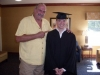 With Wrestling Legend Jake Roberts After 2009 College Graduation