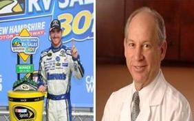 Brian Vivkers, Doctor Jack Ansel, Blood Clots 2014, Nasscar 2014, Brian Vickers 2014, Daytona 500 2014, Daytona 500, Nascar 2014, Nascar Blood Clots, Auto Racing 2014