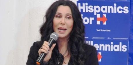 Cher Miami, Cher Hillary Clinton Miami Rally, Cher 2016, Cher Wynwood Miami