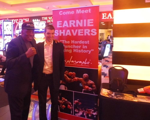 Earnie Shavers, Earnie Shavers Las Vegas, Earnie Shavers Caesars Palace, Chris Yandek